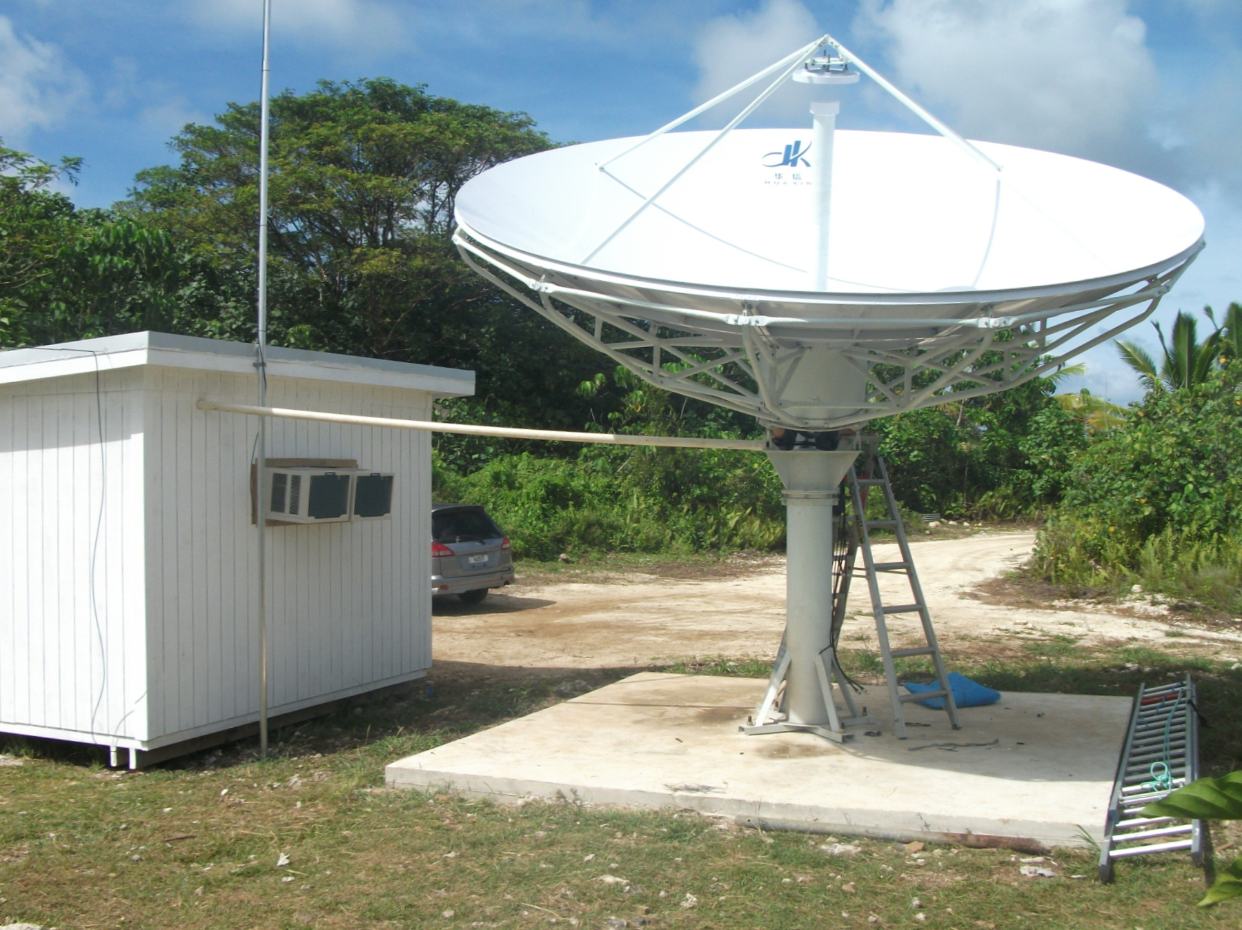 how to make a satellite dish for free internet
